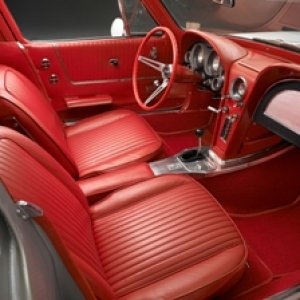 1963 Split Window Coupe Corvette Interior