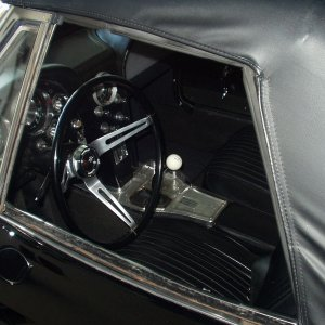 Black 4 spd with vintage HURST shifter