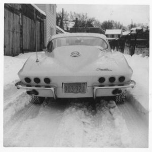BURNEN UP SNOW  BAD ASS 1964  CORVETTE CP WINTER 1965 PA...