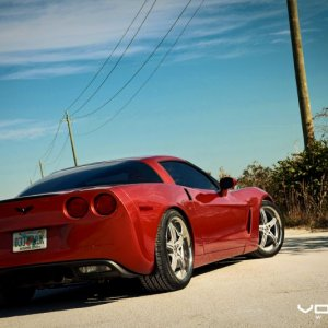 Vossen Photoshoot: Orange C6 on Matte Silver VVS087 (19x9.5 / 20x11)