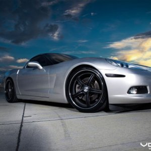 Vossen Photoshoot: Silver C6 on Matte Black VVS087 (19x9.5 / 20x11)