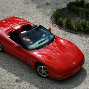 MY VETTE FROM UP TOP