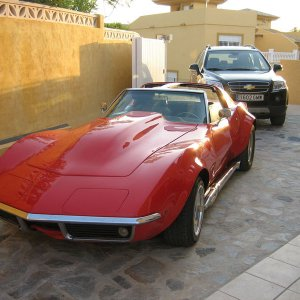 Red 69 Corvette Coupe with 454 engine