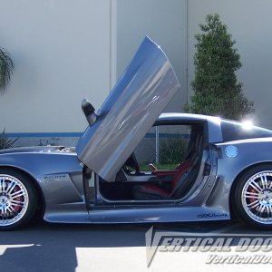 Z06 Silver with Vertical Doors, Inc. kit. side