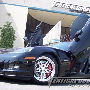Z06 Black with Vertical Doors, Inc. kit.