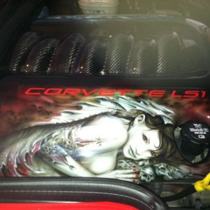 """Angels & Demons"" Carbon Fiber Engine Cover by Steve Ray of A"